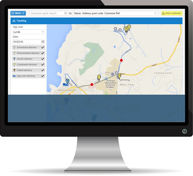 Track the progress of your deliveries and courier in real-time
